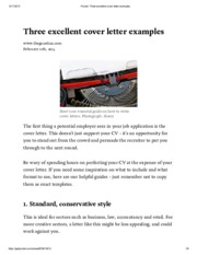 Pocket_ Three excellent cover letter examples