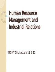 MGMT101 L11 & 12  18 & 21 Aug 15 Human Resource Management bb.ppt