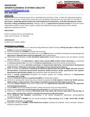 Shashank_BSA Resume