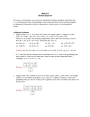 Math511ReviewProblemsExam1Solutions