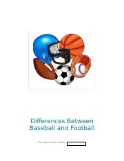 (week6)Differences Between Baseball and Football.docx