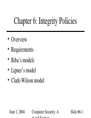 06 Integrity policies