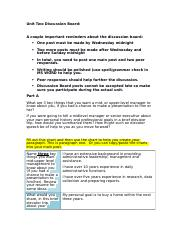 Unit Two Discussion Board Worksheet.docx