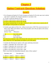Chapter 5 - Option Contracts  - Questions Solutions