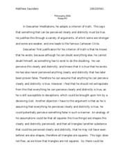 Essay 2 Descartes