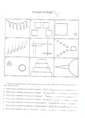 principles of design notes and worksheet