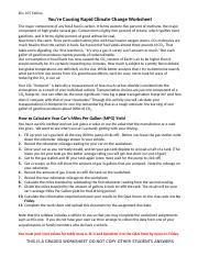 Youre Causing Climate Change Worksheet-b io105.doc