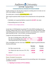 Notes Ch 4 - Consolidated Financial Statements and Outsider Ownership