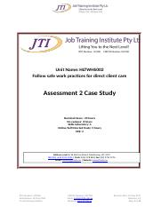 HLTWHS002 Assessment 2 Case Study.docx