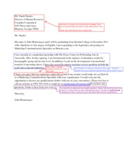 Job Letter Examples Business and Writing