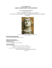 LECTURE FIVE-Early Christianity and Byzantium