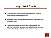Lecture 21 Long-lived Assets