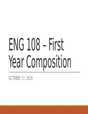 First Year Composition - 101716