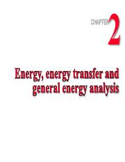 2 Energy, energy transfer & general energy analysis
