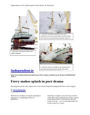 Ferry accident during loading