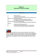 Module 2. Overview of Stress (1)