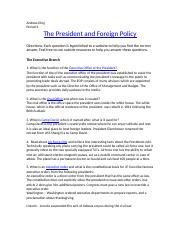 Presidential Powers and Foreign Policy Web Quest (new).docx