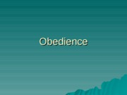 Obedience(Outline)