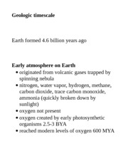 geologic timescale and atmosphere