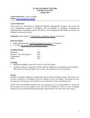 Course Outline- Database Systems (Spring 2014).docx