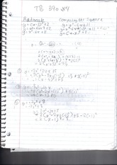 MPM 2DE completing the square practice notes