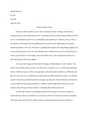 family analysis paper