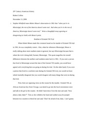 Social Commentary Essay  Pages Realism Of Emmett Till Essay Of Mice And Men Friendship Theme Essay also Example Of A 500 Word Essay Realism Of Emmett Till Essay  Th Century American History Robert  Renaissance Essay Questions