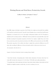 Working Parents and Total Factor Productivity