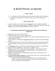 2019 Primer on Bonds