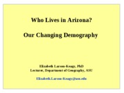 Arizonas Changing Demography - 9-08