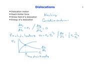 Lecture  10, Chapter 3 - Dislocations (2.10)