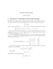 GaussianQuadrature