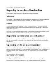 Accounting for Merchandising Operations.docx