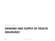 Econ+157+Topic+B+Demand+and+Supply+of+Health+Insurance