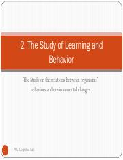 2.+The+study+of+learning+and+behavior
