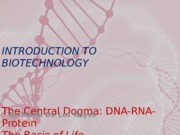 9  DNA (The Basis of Life) Handout 1.ppt