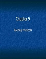 Chapter 9 - Routing protocol