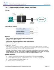 4.4.2.3 Lab - Configuring a Wireless Router and Client