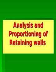Analysis and Proportioning of Retaining walls.ppt