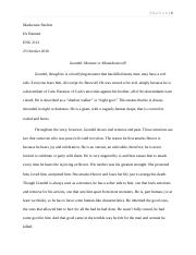 Beowulf (Grendel) Character Summary.docx