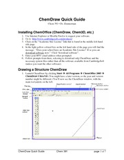 ChemDrawQuickGuide