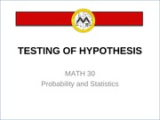 L15 Testing of Hypothesis