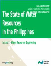 Lec 2 - State of Water Resources in PH Chap 3