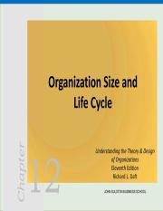 Daft Ch9 Pdf Organization Theory And Design Richard L Daft Chapter 9 Organization Size Life Cycle And Decline Differences Between Large And Small Course Hero