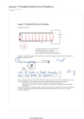 Physics 12 Parallel Plate Force Problems