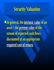 Bfmch08--Security Valuation.ppt