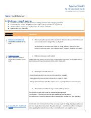 Copy of PF3: Credit Cards Intro Student Activity Packet 3.2