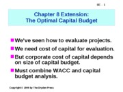 The Optimal Capital Budget (ppt)