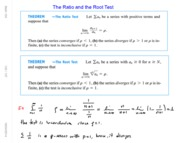 Math 104 Ch10 Ratio & Root Test