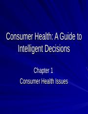 Consumer Health-Chap.1.ppt